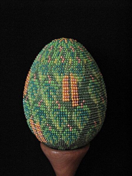 """u-ellin Бисерное яйцо  """" Церковь  """" - обратная сторона бисер бисероплетение пасхальное яйцо ручное ткачество яйца из..."""