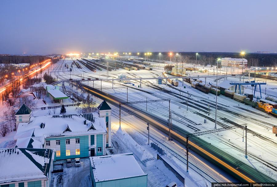 Железнодорожная станция Инская в Новосибирске