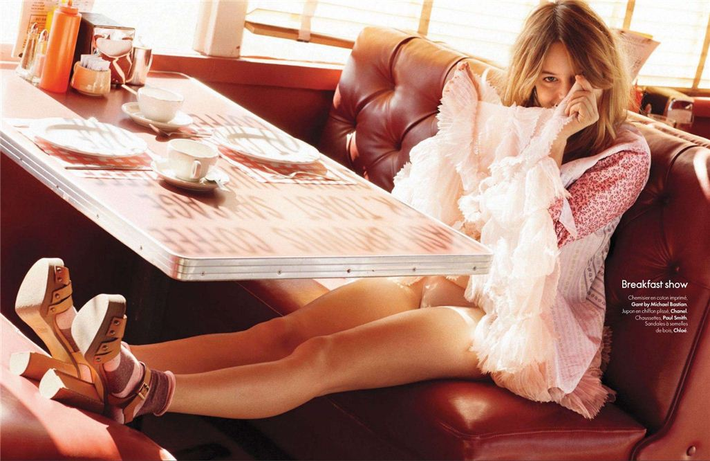Camille Rowe / Камиль Роу, фотограф Matt Jones в журнале Elle Belgium, апрель 2012