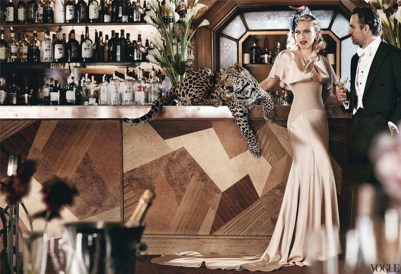 Scarlett Johansson / Скарлетт Йоханссон в журнале Vogue US, май 2012 / фотограф Mario Testino