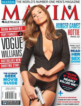 Vogue Williams / Вог Уильямс в журнале Maxim Австралия, май 2012 / фотограф Wayne Daniels