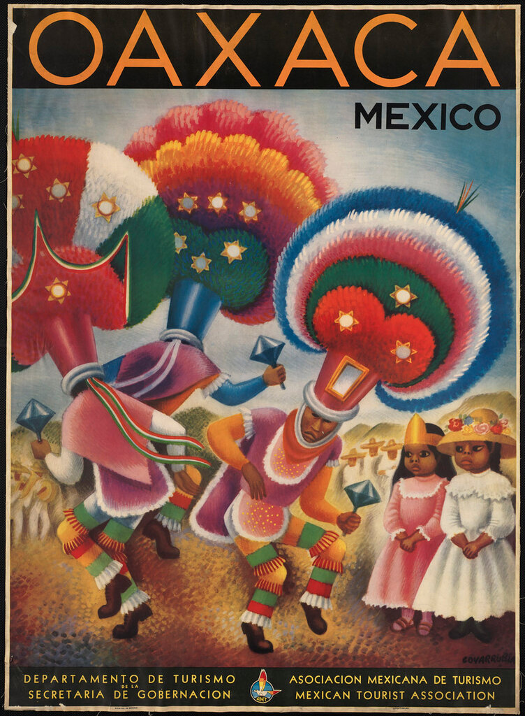 Travel posters Mexico by Covarrubias, Miguel 1947