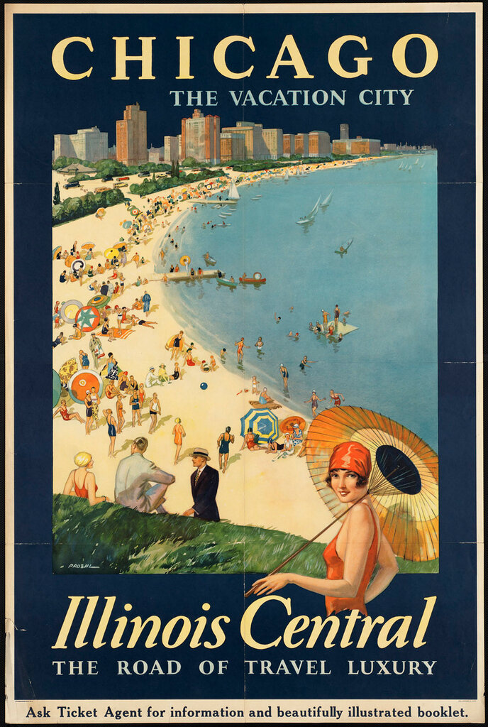 Travel posters Chicago by Proehl, Paul 1910-1959
