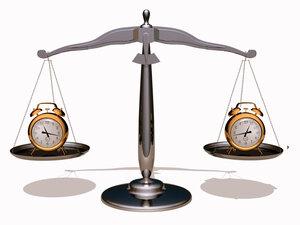 Весы с часами