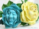 Ободок с цветами из Алисы в Стране чудес