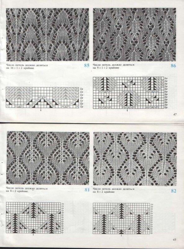 Ажурные узоры для вязания на машине - 7.
