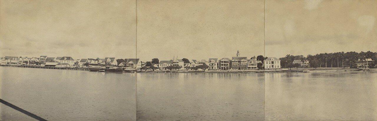 1916. Панорама набережной Парамарибо