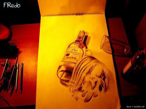рисунки простым карандашом 3d: