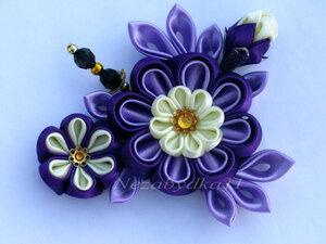Прекрасные цветы канзаши 0_8daa1_fb32b5ec_M