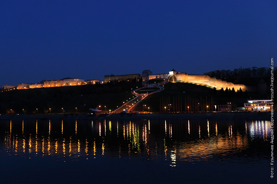 вечернее фото Чкаловской лестницы