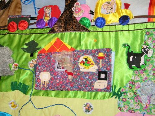 Развивающие игрушки своими руками... игровой развивающий коврик