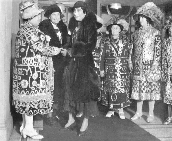 Queen Maud of Norway at National Institute for the Blind - 10-December-1931