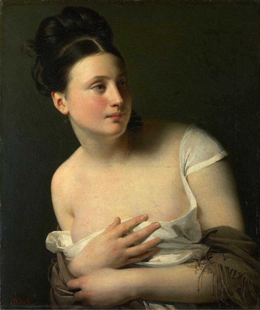 Красивой женщины портрет...