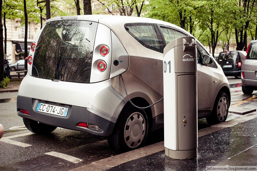 электромобили Париж