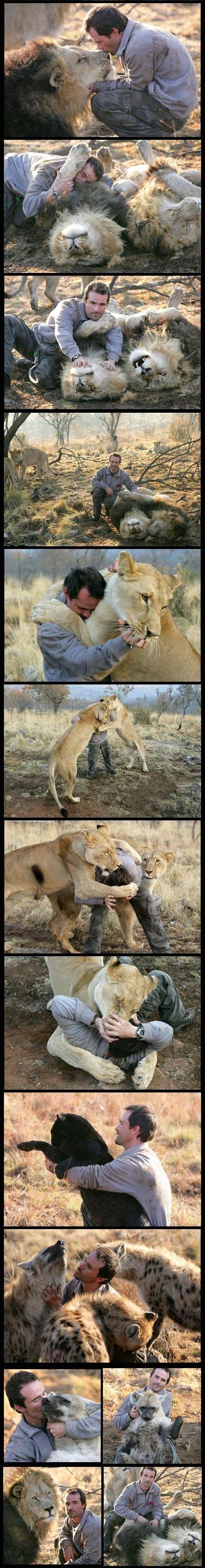 Кевин Ричардсон в заповеднике дикой природы в Южной Африке