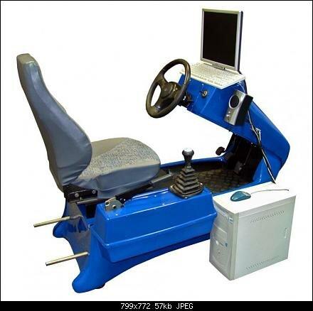 Тренажер для обучения вождения ТС. программно-технический комплекс. оригинальное программное обеспечение.