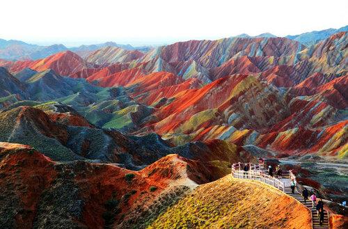 Красочные пейзажи Китая - геопарк Данься