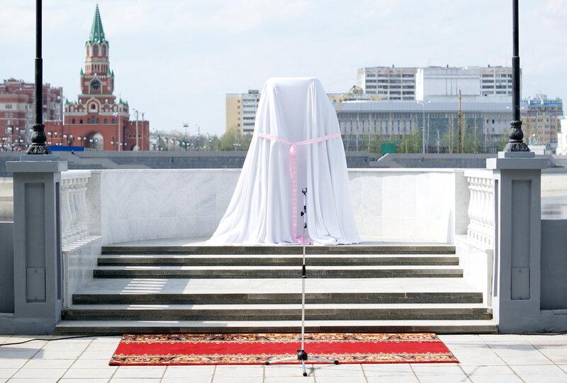 Открытие памятника молодоженам в Йошкар-Оле
