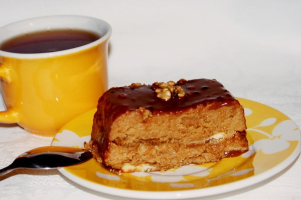 Манный шоколадный десерт «Шатенка»