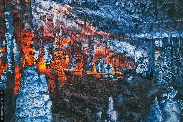 Сталактитовая пещера Сорек (11 фото)