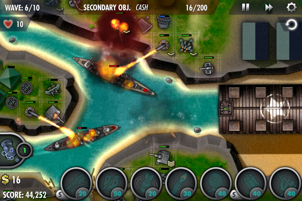 Ibomber defense iphone, screenshot