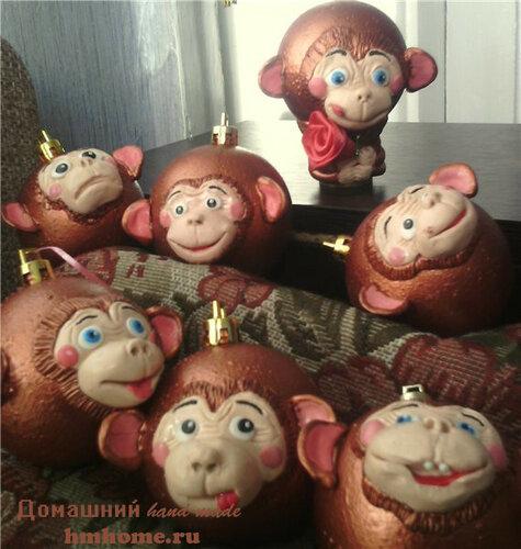 Новогодняя обезьянка своими руками