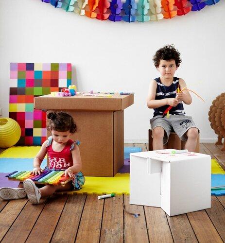 Картонная детская мебель