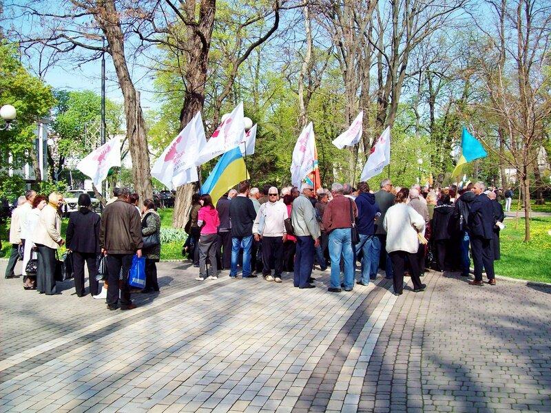 Митинг чернобыльцев в Мариинском парке