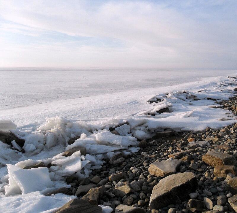 Поход, по льду и берегу...