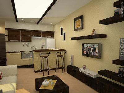 Особенности дизайна двухкомнатной квартиры.