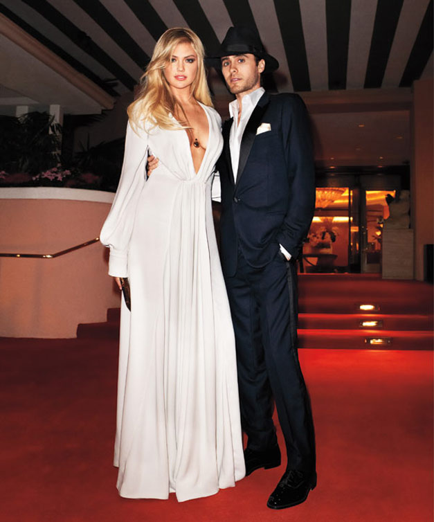 Kate Upton / Кейт Аптон и Джаред Лето (Jared Leto), фотограф Terry Richardson в журнале Harpers Bazaar US may 2012