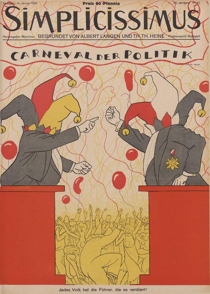 Simplicissmus Cover, 1929