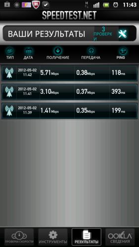 Sony Xperia S, скриншот