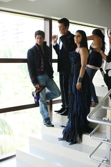 SRK, Kajol & Karan - sets for VOGUE magazine 2008