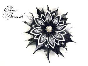 Прекрасные цветы канзаши 0_8da43_2fb9030c_M