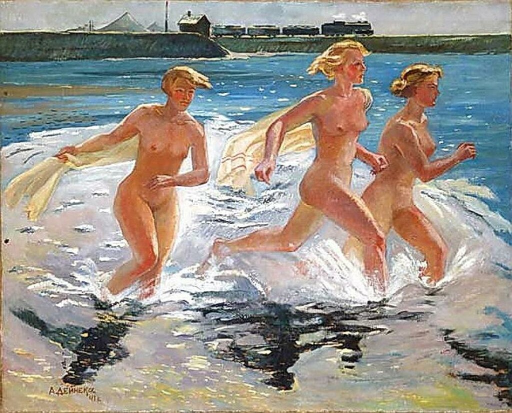Бегущие девушки. 1941г. Дейнека А.А. (1899-1969)