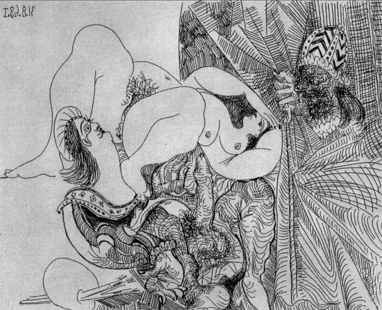 серия 347, 1968, Пикассо Пабло (1881-1973)