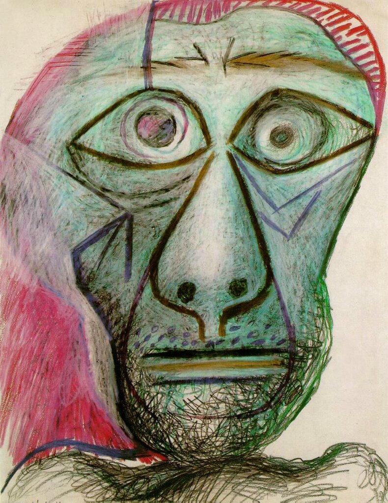Self-portrait (1972) Pablo Picasso (1881–1973);