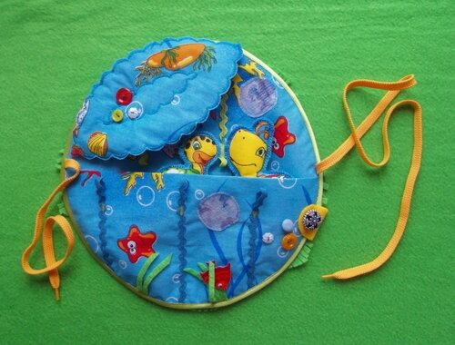 Развивающие игрушки своими руками... игровой развивающий коврик ~ Подводный мир
