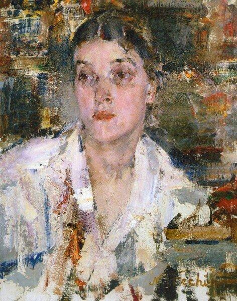 Николай Фешин. Александра Фешина. Между 1927-1933  сша.jpg