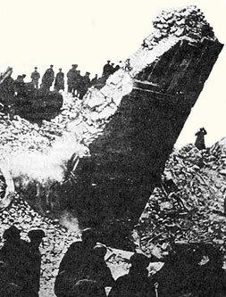 Взорванная колокольня 1930г.