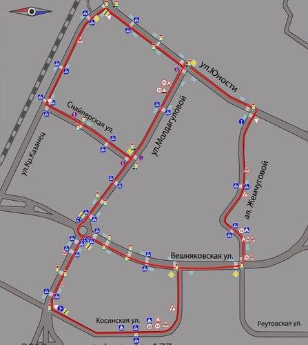 «Косинский маршрут» на Яндекс.
