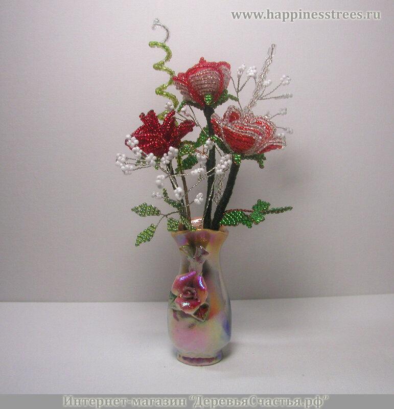 Розы из бисера в Хабаровске и Хабаровском крае.