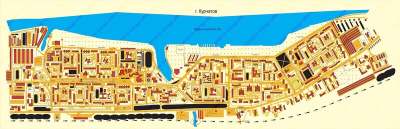 Карта курска с улицами и