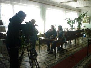 Брянское телевидение снимает репортаж о нашем сайте.