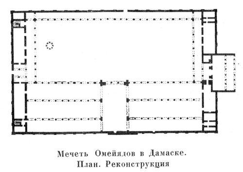 Мечеть Омейядов в Дамаске, план
