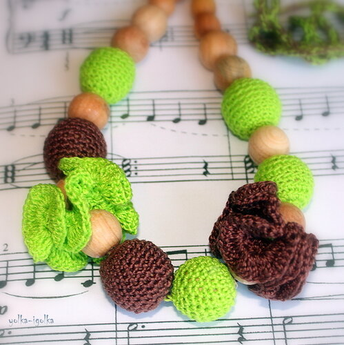 Слингобусы зелено-коричневые