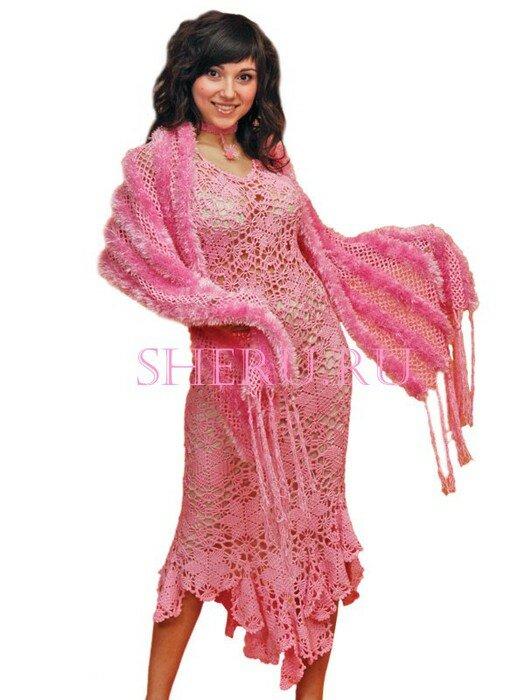 Автор модели: дизайнер Дома изысканной вязаной моды SHERU Зинаида Кебал.  Код cхемы вязания: sh138.