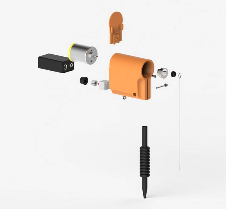 Personal Tattoo Machine - A small tattoo machine that lets you tattoo yourself