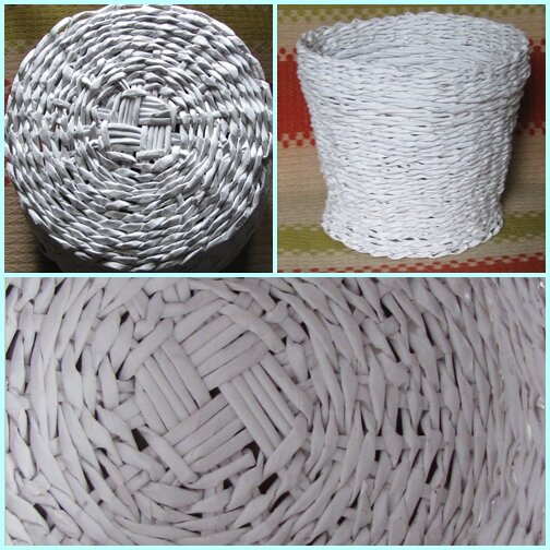 Плетение из кассовых лент
